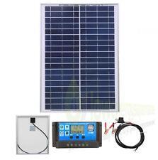 Panel Solar De Poliéster 20w Kit de carga de la batería Cargador Controlador Barco Caravana Homek 1
