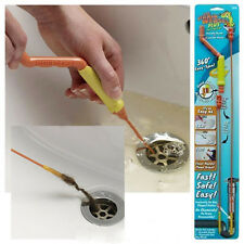 New Easy Sink Drain Weasel Cleaner Drain Unblocker for Hair & Waste Starter Kit