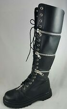 demonia boots adjustable height  9 US black goth, steam punk