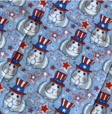 """Guinea pig pads pair USA America Olympics red white and blue 11"""" Reversible"""