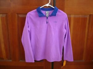 CHAMPION NWT Youth Size XL (14-16) Fleece Pullover Top, Purple/Blue