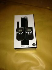 PAIR OF BATTERY-POWERED WALKIE-TALKIES - ONCHANNEL 110 - 5KM NEW