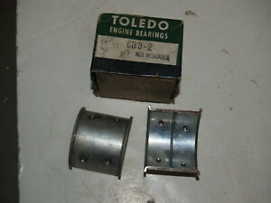 NOS 0.002 1932-1938 Ford Flathead V8 Flanged Connecting Rod Bearings - 1 set