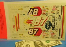 SLIXX WATERSLIDE DECALS 1/24 1:24 Vintage NASCAR #87 CHEVY BellSouth BELL SOUTH