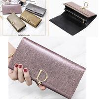 Luxury Women Genuine Real Leather Wallet Long Clutch Purse Card Holder Handbag