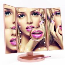 FASCINATE Lighted Makeup Mirror with 21 LED Lights Touch Screen Dimming,
