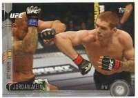 2015 Topps UFC Chronicles Silver Parallel #183 Jordan Mein