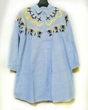 Striped Shirt Dress Embroidered