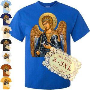 Saint Gabriel V1 Archelangel Church MEN DTG Print TShirt All sizes S-5XL