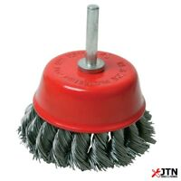 Silverline 244983 Rotary Steel Wire Twist Knot Cup Brush 75mm - 6mm Shank
