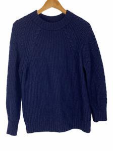Massimo Dutti Size US Medium Blue Chunky Knit Sweater