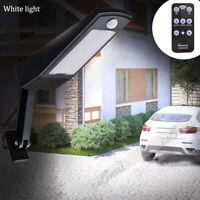 LED Waterproof PIR Motion Sensor Solar Powered Outdoor Security Wall Flood Light