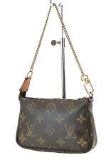 Authentic LOUIS VUITTON Mini Accessory Pochette Monogram Clutch Bag #36970
