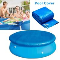 Round Swimming Paddling Pool Cover Easy Fast Set - 6/8/10Ft Swimming Pool Cover