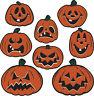 8 Halloween Vintage Repro Pumpkin Jack O Lantern Cutout haunted house decoration