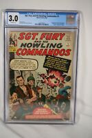 Marvel Comic Sgt Fury #1 CGC 3.0 World War II