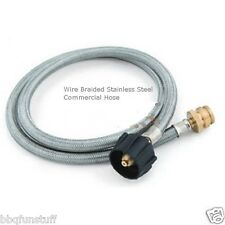 Broil King Grill Stainless Steel Adapter Propane Hose 1 to 20 lbs Tank 68004