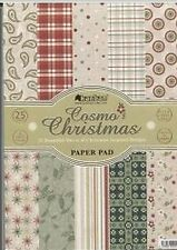 Pk 25 x A4  Papers *Cosmo Christmas* papers for cards and crafts