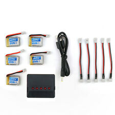 5pcs JJRC H36 Spare Parts 3.7V 150mAh Lipo Battery with X5 1 to 5 Charger Set