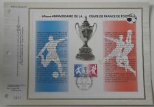 Document philatélique CEF 410 1er jour 1977 Coupe de France de Football