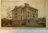 Hopewell NJ High School Real Photo PC New Jersey 1957 Vintage RPPC