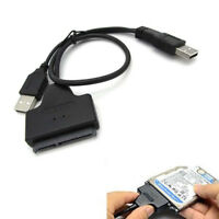 "USB 2.0 to SATA Serial ATA Adapter Cable For 2.5"" HDD SSD Laptop Hard Drive EC"