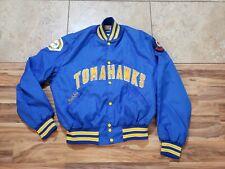 Vtg Tomahawks Chainstitched Snap Button Satin Baseball Jacket Halloway starter