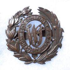 BRITISH WEST INDIA REGIMENT OFFICER'S BRONZE CAP BADGE.