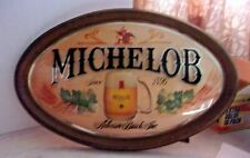 """Vintage Michelob Anheuser Busch Inc Oval Bubble Bar Sign - 23"""" X 15"""" Plastic"""