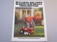 OEM Allis Chalmers Lawn & Garden Equipment Tractors Brochure Manual More Listed