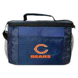 Chicago Bears Cooler Zipper Insulated Lunch Bag Box Tote 6 Pack NFL