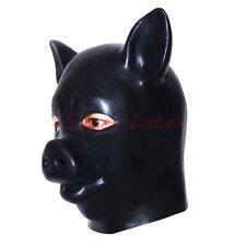Latex Mask Fetish Costumes Full head Latex Pig Mask 1.0mm