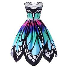 Retro Vintage Butterfly 50s 60s Swing Housewife Pinup Dress Rockabilly Party