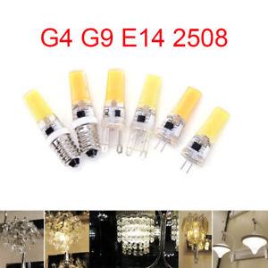 G4 G9 E14 COB LED Bulb 9W  Dimmable  Mini 220V Lamp Silicone Crystal Light Bulb