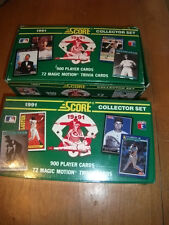 (2)1991 SCORE MLB 900 cards(+72 Motion Trivia cards) SET LOT- 1 FACTORY SEALED