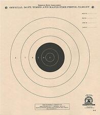 B-3 [B3] Nra Official 50 Foot Timed & Rapid Fire Pistol Target (1,000) Tagboard