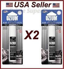OZIUM New Car Scent Air Sanitizer Freshener 0.8oz car Office Home Spray (2 pack)