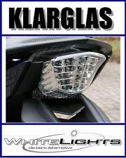 Klar Glas LED Rücklicht Heckleuchte weiss Yamaha XJ 6 Diversion clear tail light