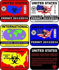 28 Zombie Hunting Permit Vector Clip Art
