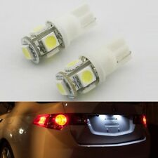 New 2pcs 168 194 T10 2825 White 5 SMD LED Bulbs License Plate Lights For Ford