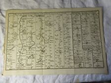 Original 1766 ROAD MAP From YORK to BERWICK & YORK to SCARBOROUGH - J Gibson.