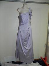Davids Bridal Dress Size 10 Iris Purple F14430 Bridesmaid Prom Satin NWT $159