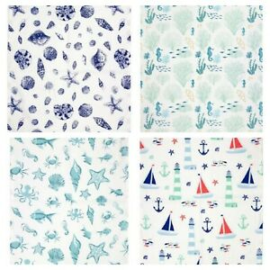 Seaside Coastal Nautical Tea Towels T Towel * Choice of Designs 100% Cotton