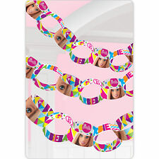 3.9m Pink Barbie Sparkle Children's Party Paper Chain Garland Decoration