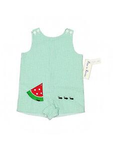 New Baby Boy Reversible Boys 'n Berries Watermelon Romper Jon John Size 3/6 Mon