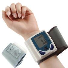 Digital LCD Wrist Cuff Arm Blood Pressure Monitor Heart Beat Meter Machine