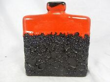 """Beautiful glazed 70´s design  JOPEKO Keramik  """" Fat Lava """" vase  900 / 16"""