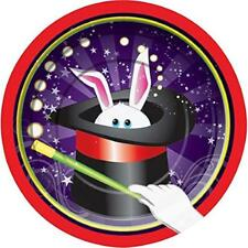 "Magic Rabbit Magician Hat Trick Kids Birthday Party 7"" Paper Dessert Plates"
