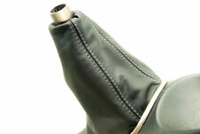 Acura RSX Manual shift Boot type S R Real Leather Black Gray Stitch For 02-06