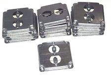 """LOT OF 19 NEW STEEL CITY RS12 DUPLEX OUTLET COVERS 4"""" RECEPTACLE 8599112078"""